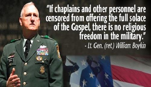 Boykin - Religious freedom in military