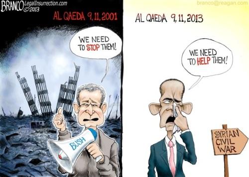 Bush v Obama