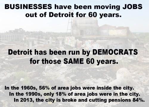 Democrats destroyed Detroit