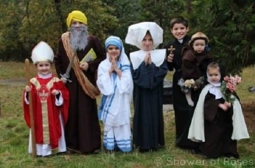 Halloween Catholic kids costumes