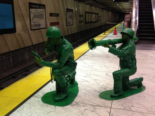 Halloween People Two plastic soldiers