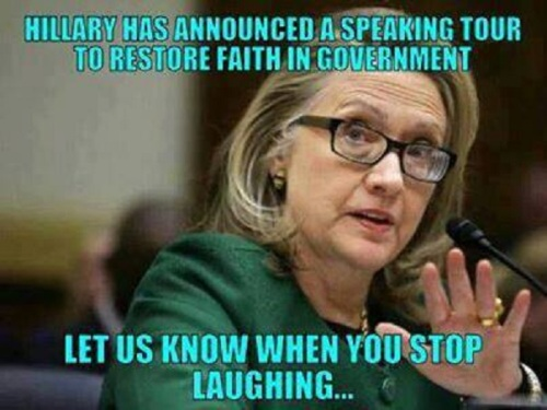 HILLARY Let us know when you stop laughing