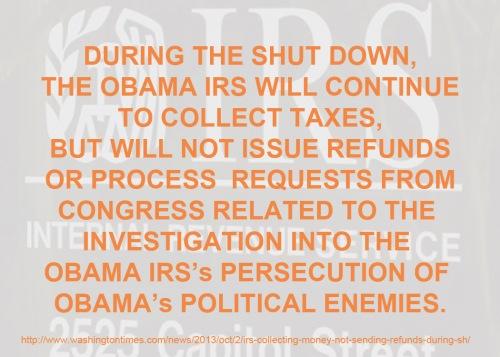IRS shut down sort of