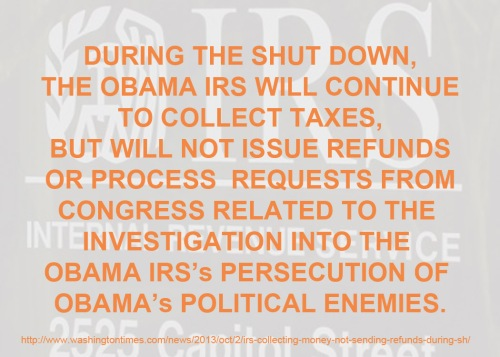 IRS shut down sort of