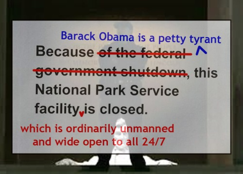 Shutdown according to Obama the Tyrant