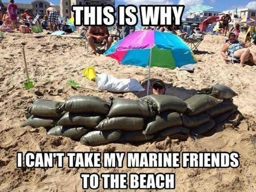 Why I can't take Marine friends to the beach