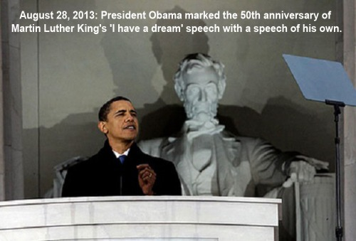 2013_08 28 Obama at LincMeml for MLK anniv