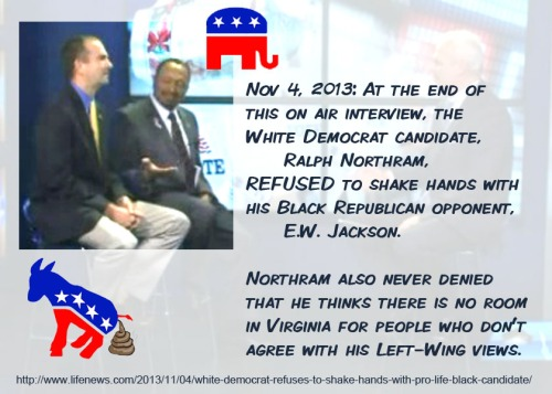 2013_11 04 White Dem refuses to shake hands with Black Rep