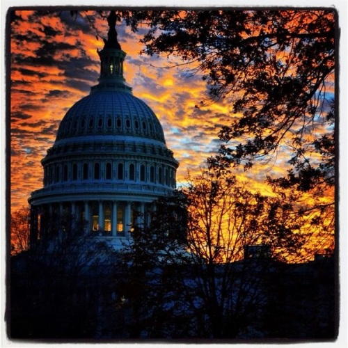 2013_11 06 Sunset in DC by Ted Cruz