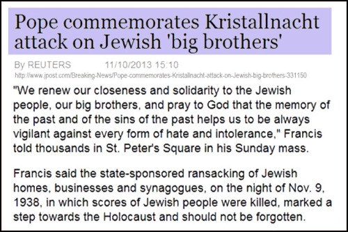 2013_11 10 Pope Francis commemorates Kristallnacht