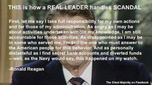 How a real leader handles scandal