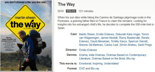 The Way - movie recommend
