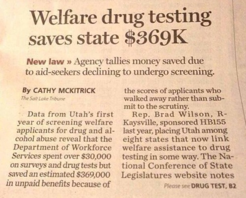 2013_10 Utah drug testing saves money