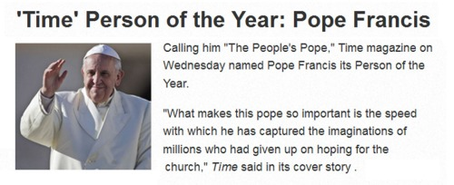 2013_12 11 TIME names Pope Francis POTY