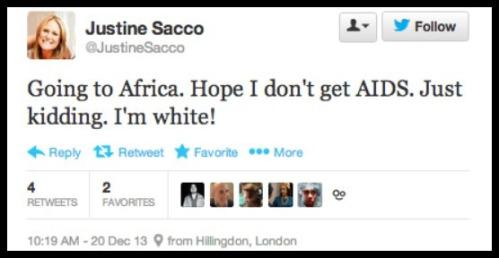 2013_12 20 Justine Sacco AIDS tweet