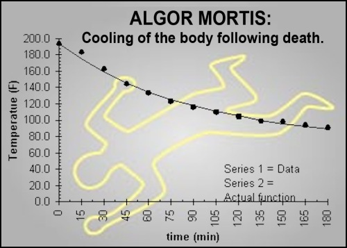 Algor mortis w graphic
