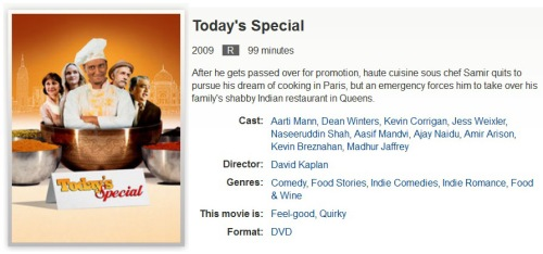 MOVIE Today's Special