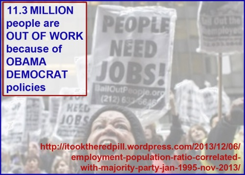 Obama Dems put 12 MILLION people out of work