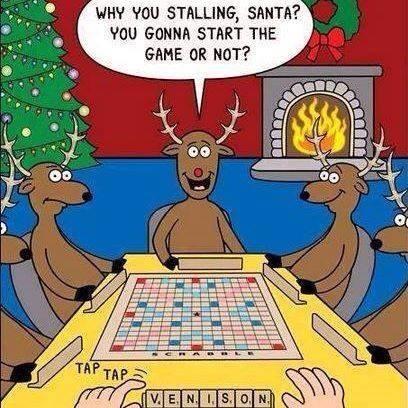 Santa plays SCRABBLE