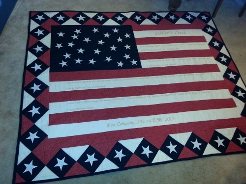 Soldier's Creed quilt 1