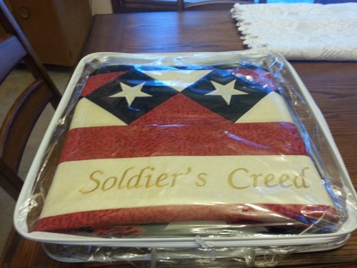 Soldier's Creed quilt 2