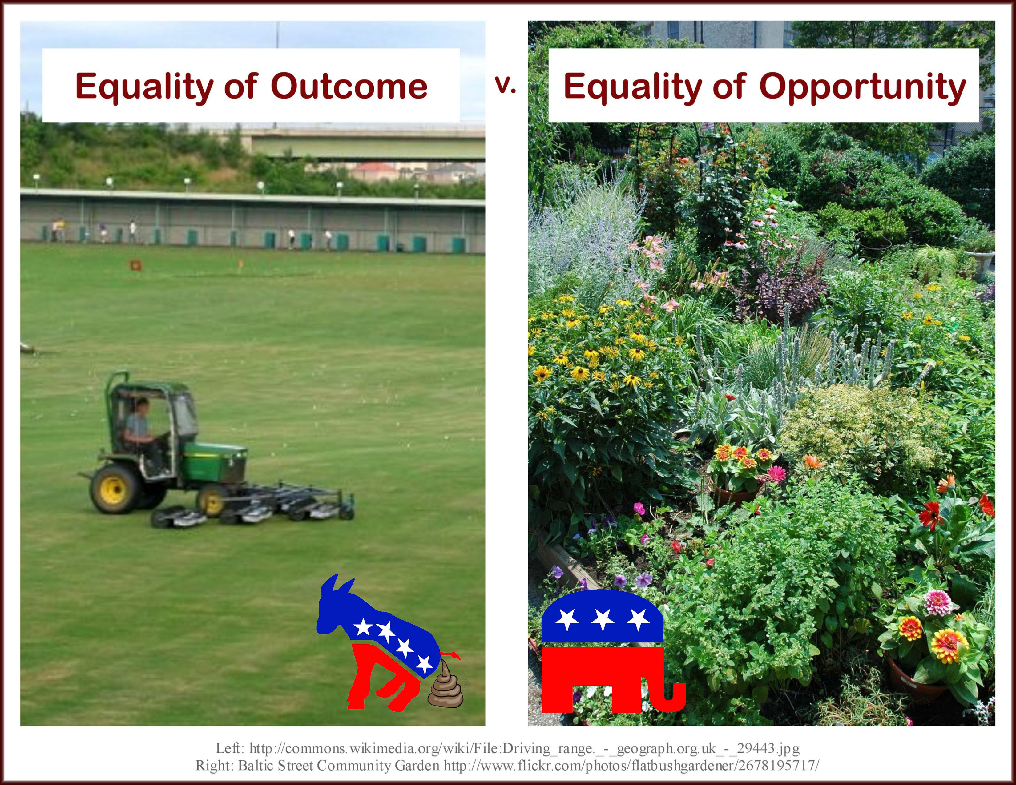 equal outcomes vs equal opportunities essay