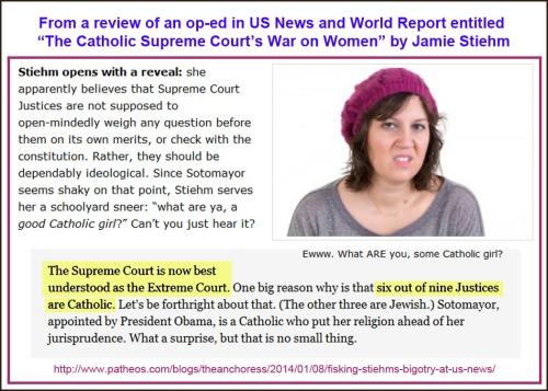 2014_01 08 Review Catholic SCOTUS war on women