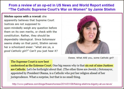 2014_01 08 Review Catholic SCOTUS war on women