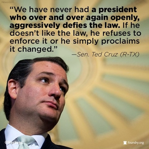 2014_01 24 Cruz - Obama defies the law
