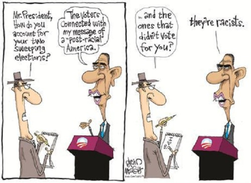 BHO and Race in one cartoon