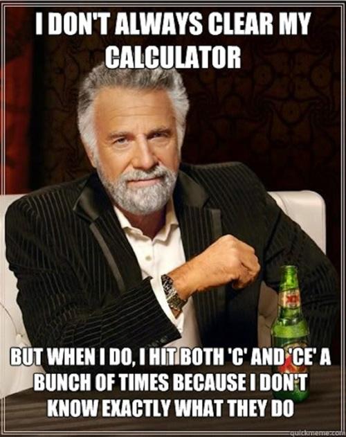 Clear calculator
