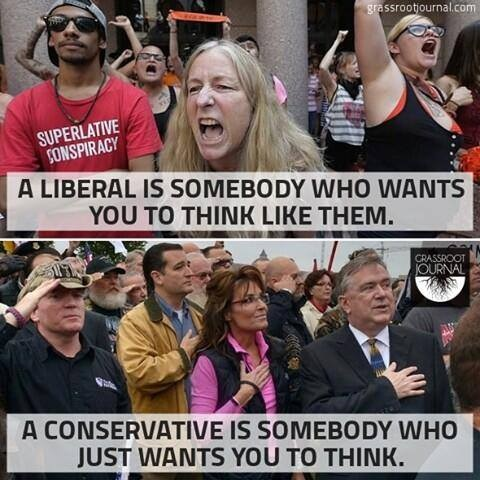 Liberal vs Conservative - thinking
