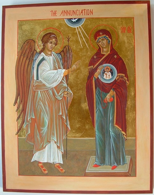 Modern Annunciation icon