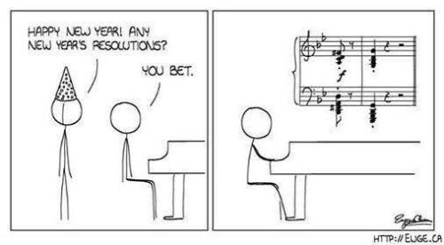 MUSIC New Year's resolution