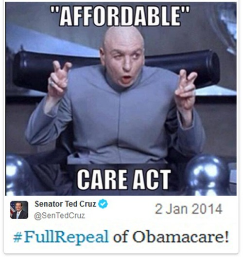 OBAMACARE Affordable air quotes