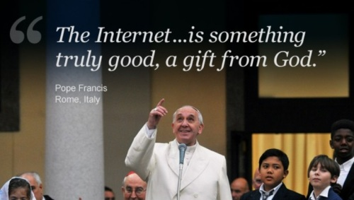 Pope Francis praises the internet