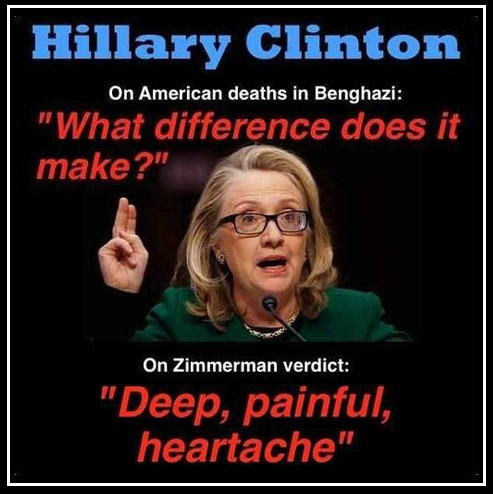Shrillary on Benghazi and Zimmerman