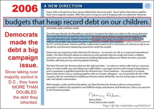 2006 Pelosi on Dem promises