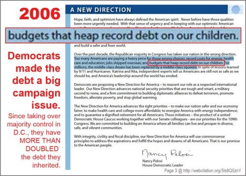 2006 Pelosi on Dem promises
