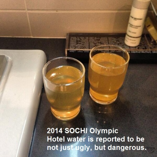 2014 SOCHI Water in glasses