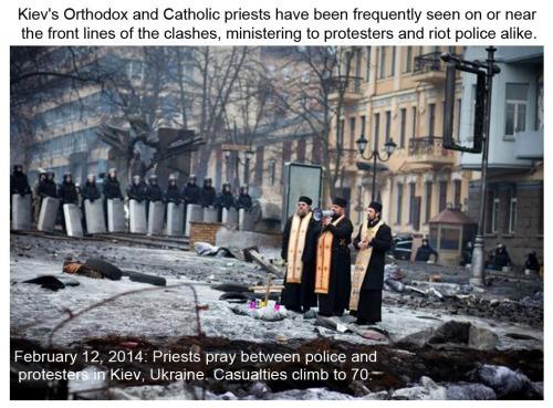 2014_02 12 Priests praying in Kiev