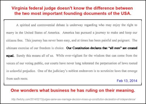 2014_02 13 VA Fed Judge misquotes Declaration of Inde