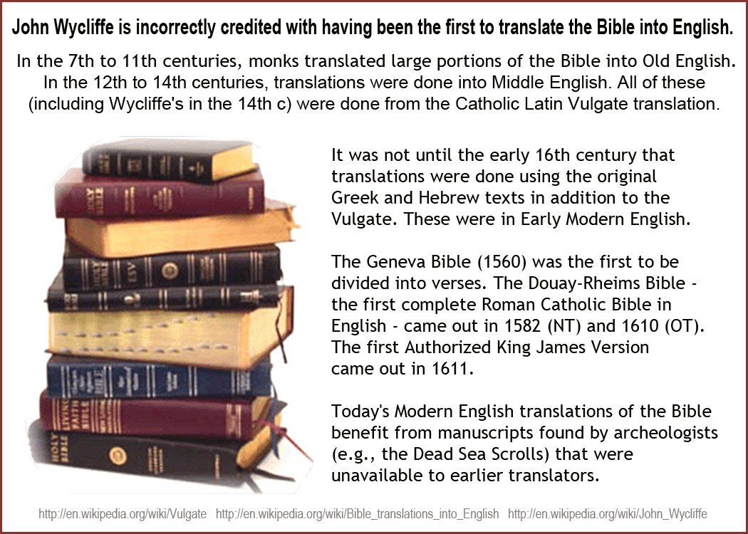 A brief history of the Bible in English |