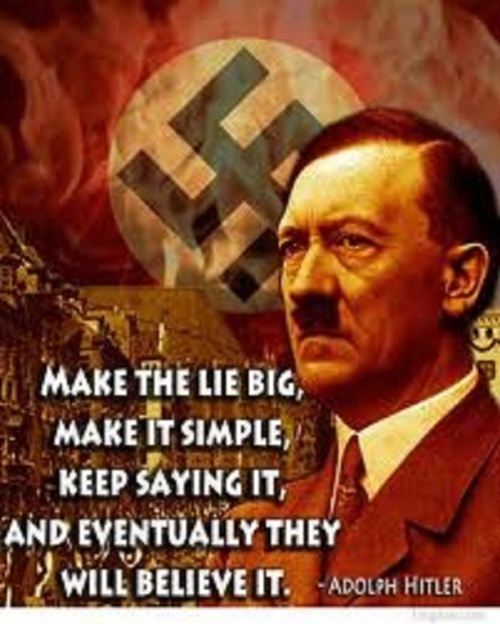 Hitler Make the lie big and simple