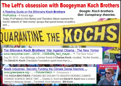 Left's obsession with Boogeyman Koch Brothers