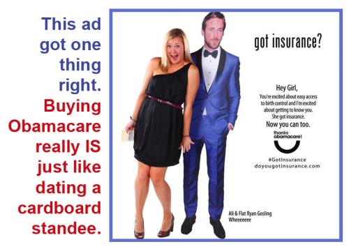 Obamacare is like dating a cardboard standee