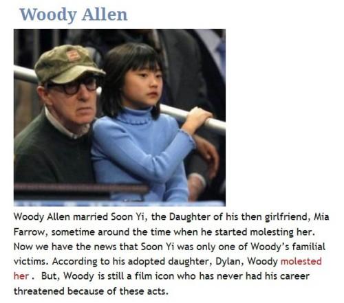 Woody Allen child molester