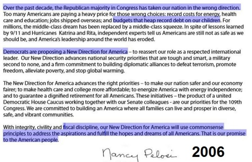 2006 Pelosi New Direction speech