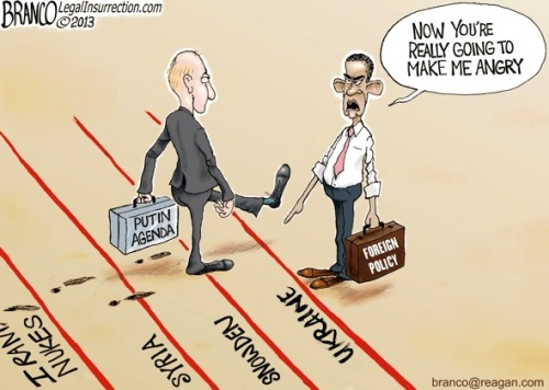 2013 Obama Putin red lines toon