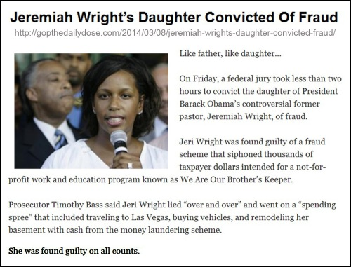 2014_03 08 Daughter of Jeremiah Wright convicted